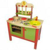 Speelkeuken Hout Rood-Groen