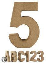 Papier mache cijfer 5