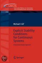 Explicit Stability Conditions for Continuous Systems