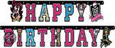 Monster High Letterguirlande - Happy Birthday