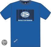 Psv T-shirt blauw gear barcode maat 164