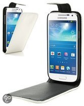 qMust Flip Case voor de Samsung Galaxy S4 Mini (white)