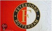 Vlag feyenoord reus 150x220 cm rood/wit logo