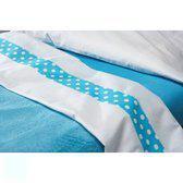 Jollein Dots - Laken en Sloop 120x150 cm - Turquoise