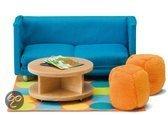 Lundby Poppenhuizen Smaland sofa met tafel en zitkussens