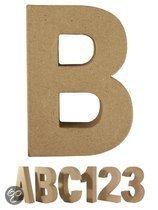 Papier mache letter B