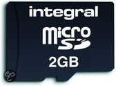 Integral - Flash memory card ( SD adapter included ) - 2 GB - microSD