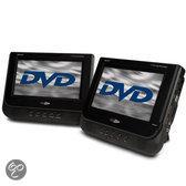 Caliber MPD277 - Portable DVD-speler 2 schermen met ingebouwde accu , oordopjes en hoofsteun tasjes - zwart