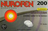 Nurofen Ibuprofen 200 mg -  Smelttablet lemon - 12 stuks - Pijnstillers