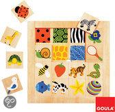 Goula Houten Puzzel - Structuur - 16 Stukjes