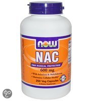 Now Foods Voedingssupplementen NAC, 600 mg (250 vegetarische capsules) - Now Foods