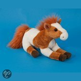 Pluche paarden knuffel bruin 25 cm