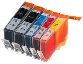Compatible InktMaxx HP-364 XL, 5 pak met chip. 2 Zwart, 1 Cyaan, 1 Magenta, 1 Geel.