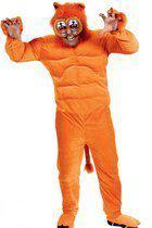 Gespierd leeuwen kostuum oranje