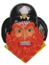 Wanddeco Piraten hoofd met oranje baard