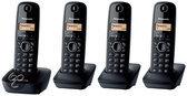 Panasonic KX-TG1614 - Quattro DECT telefoon - Zwart