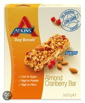 Atkins Day Break Cranberry Almond Reep - 5x37 gr - Maaltijdreep