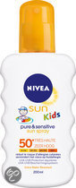 NIVEA Kids Pure & Sensitive - SPF 50 - 200 ml - Zonnebrandspray