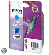 Epson T0802 Inktcartridge - Cyaan