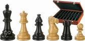Schaakstukken, Nero zwart /hout koningshoogte 95mm