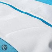 Jollein - Laken 100x150 cm - Wit/Turquoise