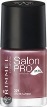 Rimmel Salon Pro With Lycra Nailpolish - 307 Grape Sorbet - Nailpolish