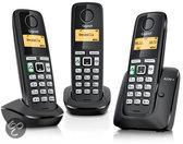 Gigaset A220A - Trio DECT telefoon met antwoordapparaat - Zwart