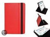 Unieke Hoes voor de Lenco Tab 9720 , Multi stand Case, Rood, merk i12Cover