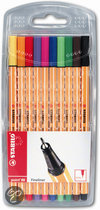 STABILO Point 88 Fineliner - 10 stuks in Etui