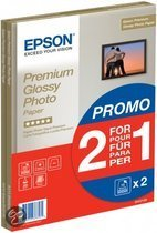 Epson Premium Glossy Photo Paper BOGOF - Glossy photo paper - A4 (210 x 297 mm) - 255 g/m2 - 15 sheet(s) (pack of 2 ) - for Epson MUFC Printer  Expression Home XP-102, 305  Expression Photo XP-950  Stylus Pro 3880