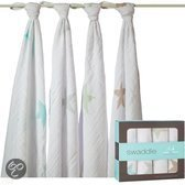 Aden + Anais Inbakerdoek Swaddle Super Star Scout 4-pack