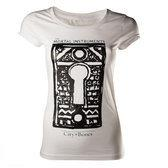 The Mortal Instruments Dames T-shirt Wit met Slot Maat M