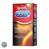 Durex Feeling Real Latex Vrij - 10 stuks - Condooms