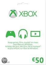 Microsoft Xbox Live 50 euro Kaart - Xbox 360 + Xbox One