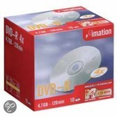 Imation DVD-R 120min/4,7 GB 10 stuks in slimcase