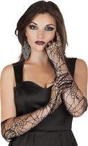 Halloween Handschoenen Spiderweb