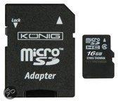 König 16 GB Micro SD Geheugenkaart Klasse 4