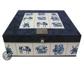 The Dutch Tea Box Theedoos Delfts blauw blond