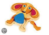 Happy Puzzle! HOND - Houten speel&leer puzzel
