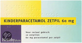 Paracetamol Kind 60 mg - 10 Zetpillen - Pijnstillers