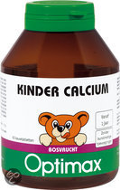 Optimax Kinder Calcium 60 kauwbeertjes