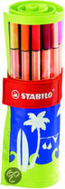 STABILO Point 88 Rolset Beach - Lime/Blauw