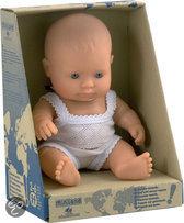 Miniland Babypop Europese Jongen - 21 cm