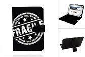 Tomtec 7 Inch Fragile Print Case, Trendy Hoesje, Kleur Zwart, merk i12Cover