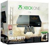 Microsoft Xbox One 1TB Console - Limited Edition + 1 Limited Edition Wireless Controller + Call of Duty: Advanced Warfare -  Zwart Xbox One Bundel
