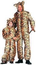 Carnavalskleding dierenpak Tijger plusch tijgerpak kind Maat 152