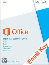Microsoft Office Microsoft Office Home and Business 2013 | OEM | 32/64 bits | Download + Licentie | Installatietaal naar keuze| Cursus naar keuze