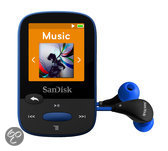 Sandisk Sansa Clip Sports - MP3-speler - 8 GB - Blauw