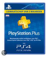 Sony PlayStation Plus Abonnement 90 Dagen NL - PS4 + PS3 + PS Vita + PSN