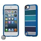 Speck FabShell - Beschermhoes voor de Apple iPod Touch 5 - ColorBar Arctic Blue
